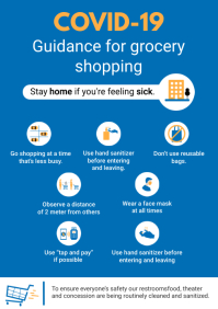Covid-19 Grocery Store Shopping Guidelines Si A4 template