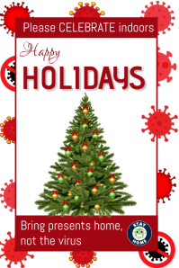 Covid 19 holidays Cartaz template
