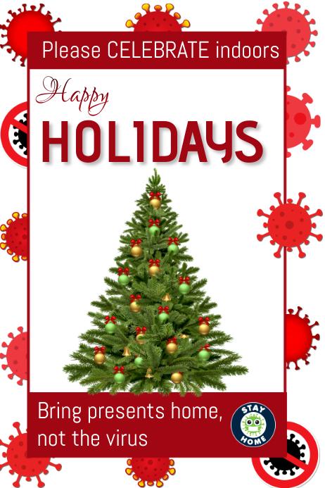 Covid 19 holidays Plakat template