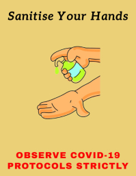 Covid-19 Prevention Flyer ใบปลิว (US Letter) template