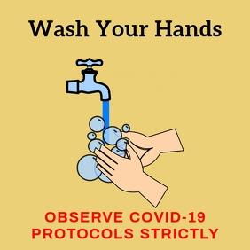 Covid-19 Prevention Instagram Template