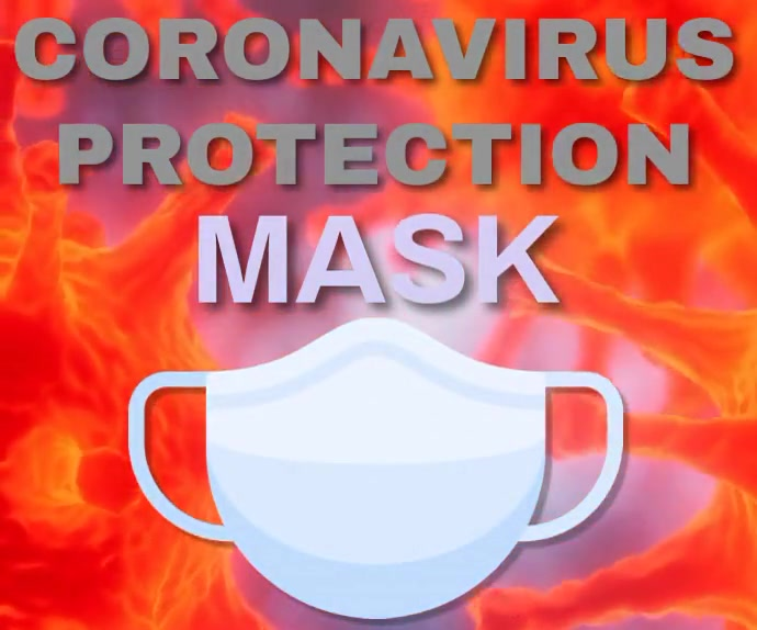 COVID-19 PROTECTION MASK TEMPLATE Mellemstort rektangel
