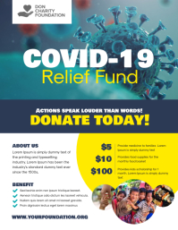 Covid-19 Relief Fund Donation Volantino (US Letter) template