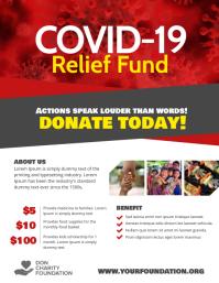 Covid-19 Relief Fund Donation Volante (Carta US) template