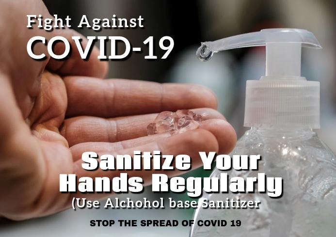Covid-19 sanitize 14i A2 template