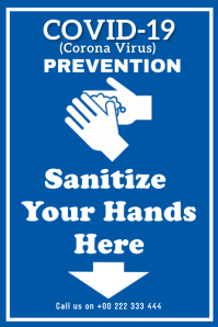 Covid-19 sanitize Poster template