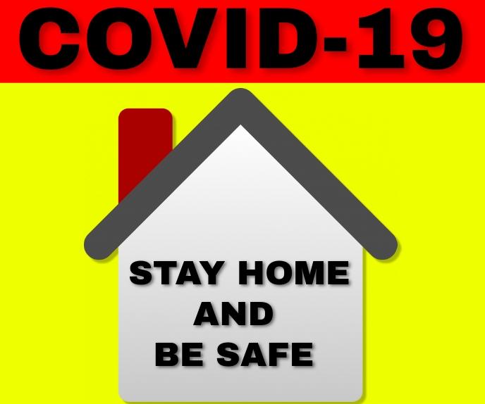 COVID 19 SIGN TEMPLATE Stort rektangel