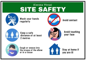 Covid-19 Site safety A1 template