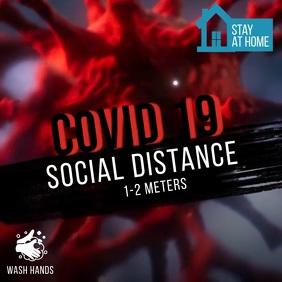 Covid 19 Social Distance Publicación de Instagram template