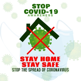 Covid-19 STAY HOME Logo template