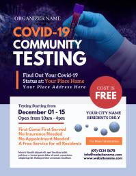 Covid-19 Testing Flyer Løbeseddel (US Letter) template