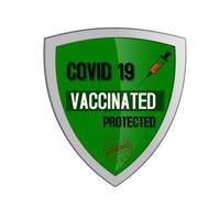 COVID 19 VACCINATED Ilogo template