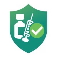 COVID-19 Vaccinated Sticker โลโก้ template