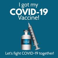 COVID-19 Vaccination Campaign Flyer Template Square (1:1)