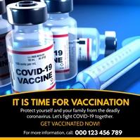COVID-19 Vaccination Campaign Flyer Template Persegi (1:1)