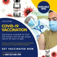 COVID-19 Vaccination Flyer Template 方形(1:1)