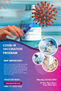 Covid 19 Vaccination program Banner Banier 4'×6' template