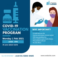 Covid-19 Vaccination Program Message Instagram template