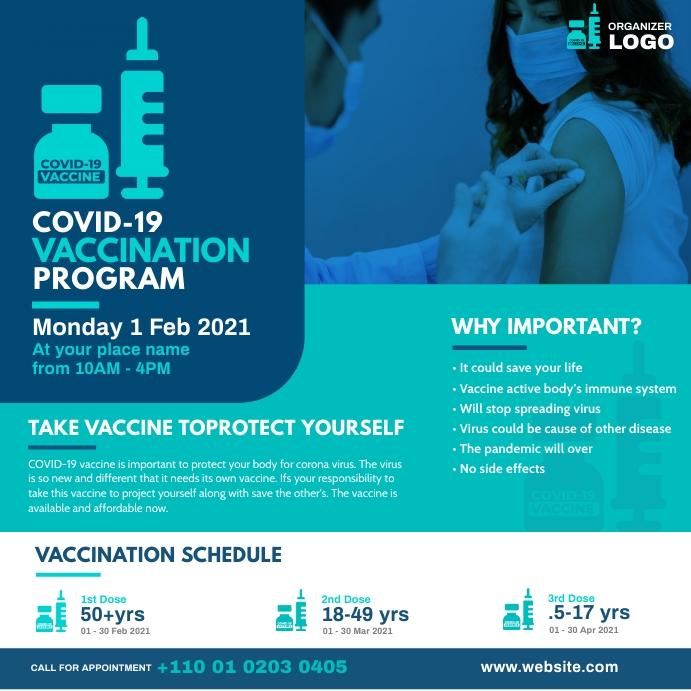 Covid-19 Vaccination Program Instagram Post template