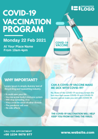 Covid-19 Vaccination Program Flyer A4 template