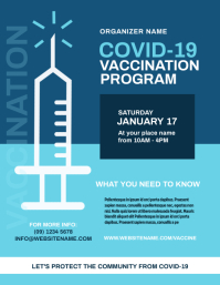 Covid-19 Vaccination Program Flyer template