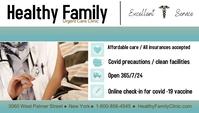 covid-19 vaccine/clinic/hospital/health En-tête de blog template