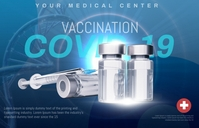 covid 19 vaccine Tabloïd template