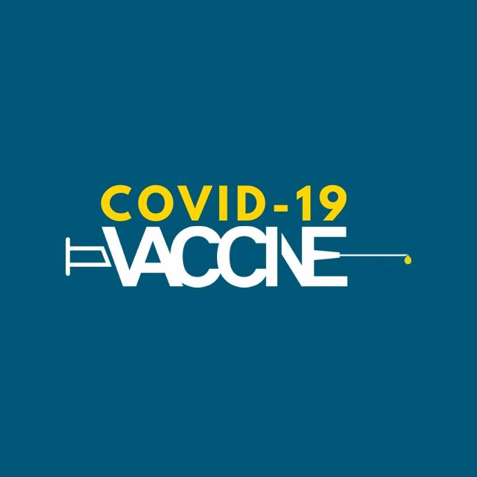 COVID-19 Vaccine Logotipo template
