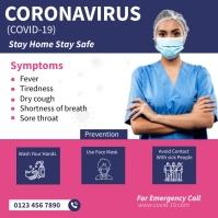 Covid Prevention Square (1:1) template