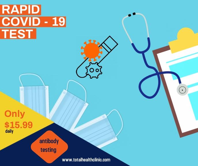 covid testing/coronavirus/health vaccine Stort rektangel template