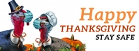 Covid Thanksgiving Fall Facebook Banner template