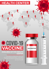 covid vaccine A4 template