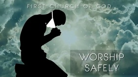 COVID WORSHIP SAFELY MASK Church Display Digitalanzeige (16:9) template
