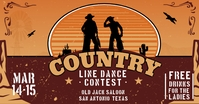 Cowboy Line Dance Contest Show Facebook Post template