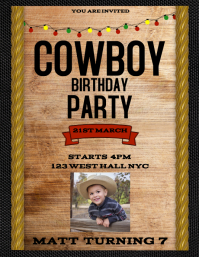 COWBOY TEXAN EVENT DANCE PARTY FLYER