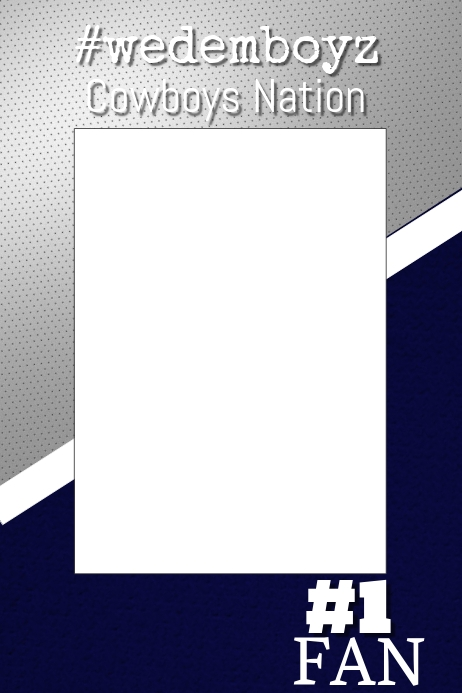 Cowboys Football Photo Prop Frame