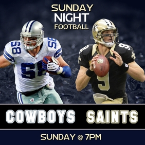 COWBOYS SAINTS SUNDAY NIGHT FOOTBALL FLYER