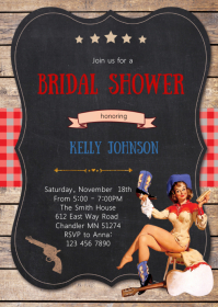 Cowgirl bridal shower invitation