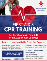 CPR & First Aid Training Center Flyer Ulotka (US Letter) template