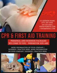 CPR & First Aid Training Flyer Template
