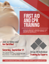 CPR and First Aid Training Flyer Template