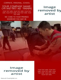 CPR Company Flyer Template