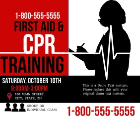 photo regarding Cpr Posters Free Printable named Customizable Style and design Templates for Cpr PosterMyWall
