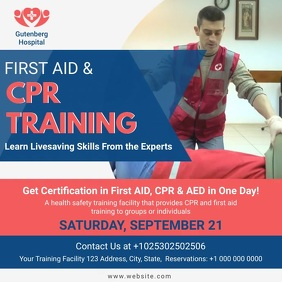 CPR Training Advert Video Instagram Post template