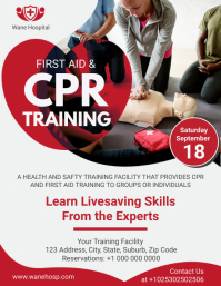 CPR Training Certification Flyer Ulotka (US Letter) template