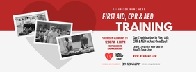 CPR Training Facebook Cover Photo template