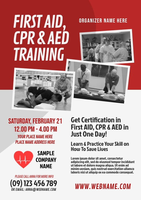 CPR Training Flyer