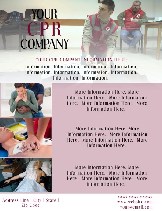 CPR Video Flyer Template