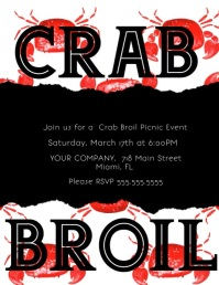 Crab Broil Picnic Event Flyer template