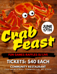 80 customizable design templates for crab feast postermywall